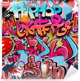 Fotomural Estándar Hip hop de fondo de graffiti arte urbano