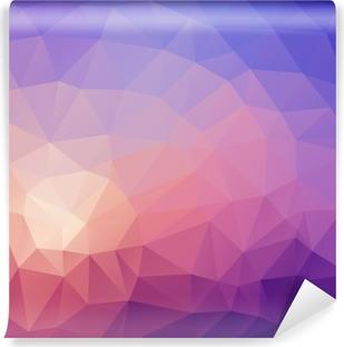 Fotomural Estándar Ilustración de fondo abstracto de color poligonal.