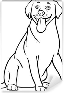 Labrador Retriever Perro De Dibujos Animados Para Colorear