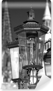 Fotomural Estándar Lámparas de blanco y negro de la vendimia de gas, Praga, República Checa
