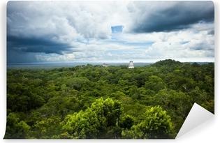 Fotomural Estándar Las ruinas mayas de Tikal, Guatemala sitio. Vista desde el Templo IV