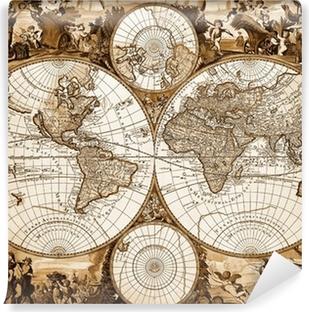 Fotomural Lavable Antiguo mapa del mundo