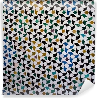 Fotomural Lavable Azulejos de colores, el estilo árabe, en la Alhambra, Granada