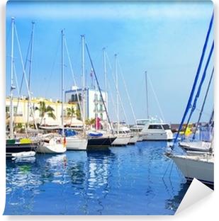 Fotomural Lavable Barcos puerto deportivo de Gran Canaria Puerto de Mogán