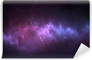 Fotomural Lavable Cielo nocturno - Universo lleno de estrellas, nebulosas y galaxias