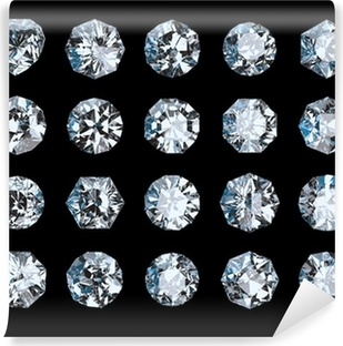 Fotomural Lavable Conjunto de diamantes
