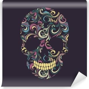 Fotomural Lavable Cráneo del remolino ornamental
