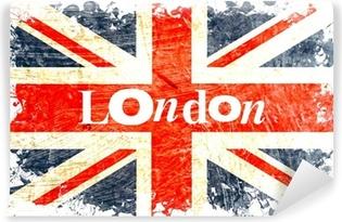 Fotomural Lavable Inglés bandera grabada london