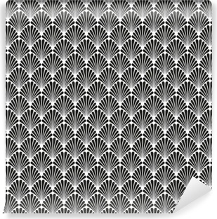 Fotomural Lavable Modelo abstracto inconsútil de la textura del vector del art déco