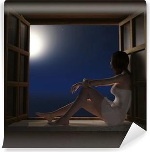 Resultado de imagen para mujer sentada en el alféizar