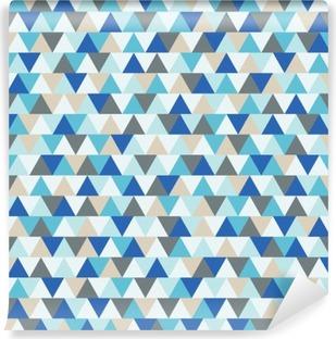 Fotomural Lavable Resumen triangulo vector fondo, azul y gris modelo geométrico de las vacaciones de invierno