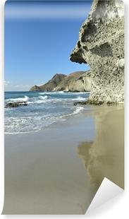 Fotomural Lavable Roca volcánica en la playa de Mónsul, Cabo de Gata
