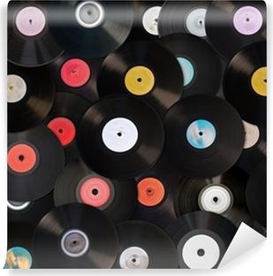 Fotomural Lavable Viejos discos de vinilo