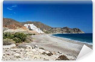 Fotomural Lavable Vista del Algarrobico Beach, cerca de Carboneras, Almería, España