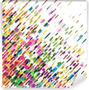 Fotomural Estándar Líneas de colores en movimiento abstracto, fondo del vector