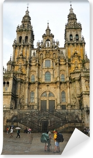 Fotomural Estándar Los peregrinos en la Catedral de Santiago de Compostela