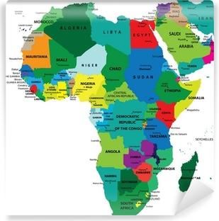 Fotomural Estándar Mapa Político de África