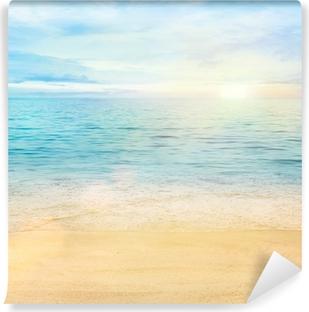 Fotomural Estándar Mar y arena de fondo