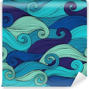 Fotomural Estándar Modelo inconsútil del vector con las ondas abstractas
