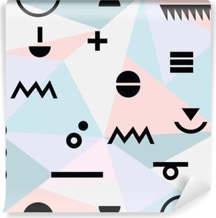 Fotomural Estándar Modelo moderno mínima geométrica abstracta material de referencia y símbolos negros