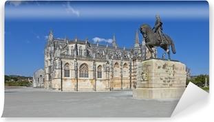 Fotomural Estándar Monasterio de Batalha y Nuno Alvares Pereira estatua