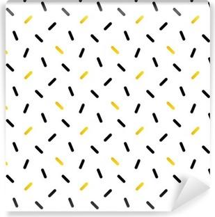 Fotomural Estándar Negro lindo y confeti de oro, fondo geométrica patrón transparente.