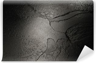 Fotomural Estándar Negro textura de fondo de piedra.