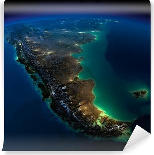 Fotomural Estándar Noche Tierra. Un pedazo de América del Sur - Argentina y Chile