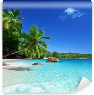 Fotomural Estándar Playa en la isla de Praslin, Seychelles