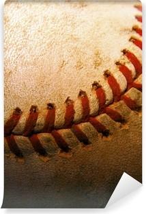 Fotomural Estándar Primer plano de una vieja, béisbol usado