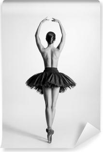 Fotomural Estándar Rastro blanco y negro de una bailarina de ballet en topless
