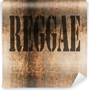 Fotomural Estándar Reggae, música de la palabra de fondo grunge