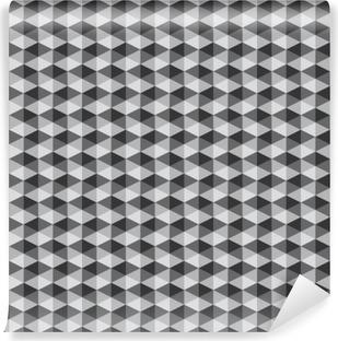 Fotomural Estándar Resumen retro patrones geométricos de color blanco y negro tono vect