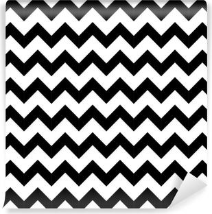 Fotomural Estándar Resumen sin patrón geométrico zigzag. vector