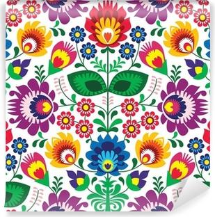 Fotomural Estándar Seamless patrón tradicional polaco floral - el origen étnico