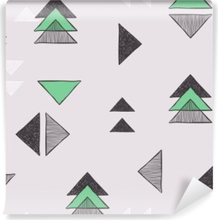 Fotomural Estándar Sin costuras a mano patrón de triángulos.