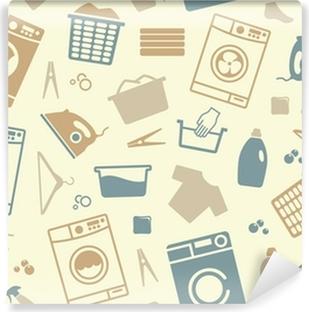 Fotomural Estándar Sin problemas de fondo de una lavandería