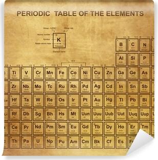 fotomural autoadhesivo tabla peridica de los elementos con nmero atmico - Tabla Periodica De Los Elementos Numero Masico