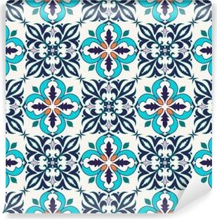 Fotomural Estándar Textura inconsútil del vector. patrón de color hermoso para el diseño y la moda con elementos decorativos