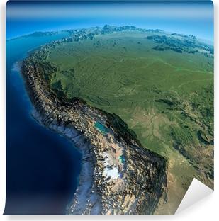 Fotomural Estándar Tierra detallada. Bolivia, Perú, Brasil