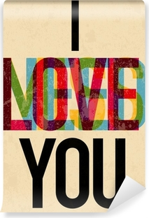 Fotomural Estándar Tipo de texto caligráfico Día de San Valentín