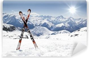 Fotomural Estándar Un par de esquís de fondo