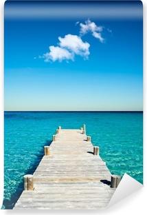 Fotomural Estándar Vacances plage ponton bois