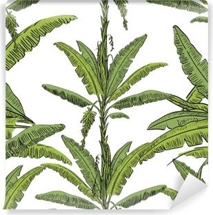 Póster Vector Dibujado árbol De Palma De Patrones Sin Fisuras Con