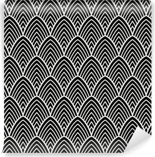 Fotomural Estándar Vintage art deco de patrones sin fisuras. textura decorativa geométrica.