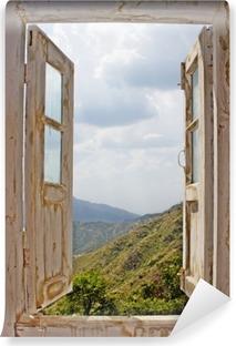 Fotomural Estándar Vista de una vieja blanca Ventana