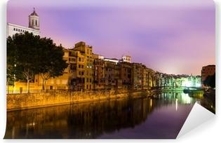 Fotomural Estándar Vista nocturna del de Girona