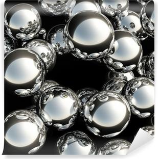 Vinyl-Fototapete 3d balls