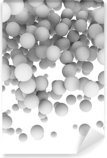 Vinyl-Fototapete 3D-Kugeln auf weißem Hintergrund