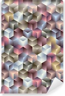 Vinyl-Fototapete 3D-Würfel geometrische nahtlose Muster.